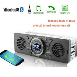1 Din In-Dash TF SD Bluetooth 12V MP3 Player AUX Speaker USB