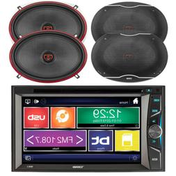 """DS18 2-DIN 6.2"""" Bluetooth DVD Car Stereo Receiver, 4x 6x9"""" 3"""