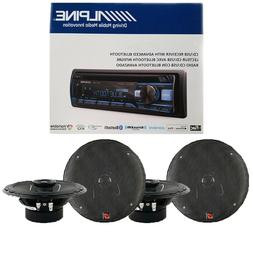 Alpine Bluetooth Car Audio Stereo Receiver / XED62 6.5 inch