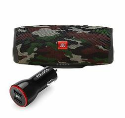 JBL Charge 4 Camouflage BT Speaker w/ USB Car Charger