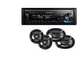 Pioneer DEH-S1100UB CD MP3 Stereo, AUX with 2) Pairs JVC 6.5
