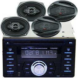 Gravity Double Din Bluetooth Car Audio Stereo CD MP3 w/ USB