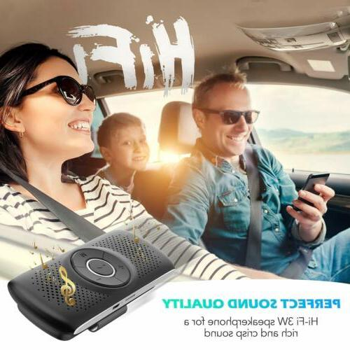 AGPTEK Bluetooth In Hands Speaker For Cell Phone W/ Clip TF