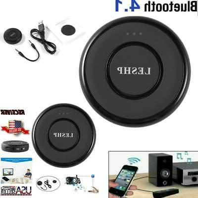leshp round wireless bluetooth car stereo streaming
