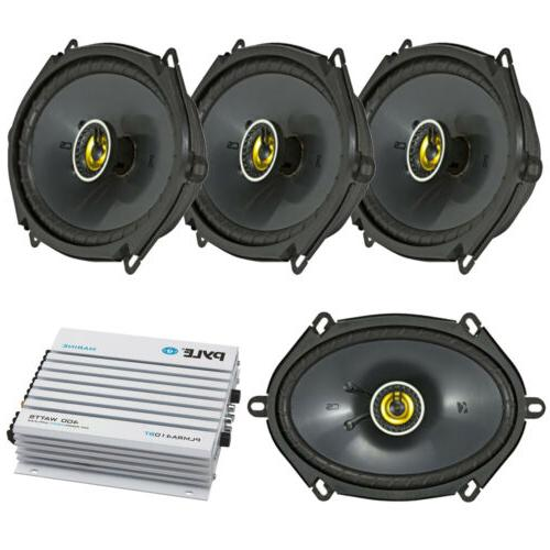 pair of kicker 43csc684 6x8 car stereo