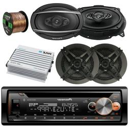 "Pioneer CD Bluetooth Radio Player, 2x 6x9"" & 2x 6.5"" Speaker"