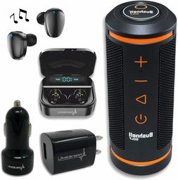 Bushnell Wingman Golf GPS Speaker and Black EarBuds and Wall