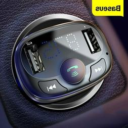 Baseus Wireless FM Transmitter USB Car Charger Bluetooth Aud
